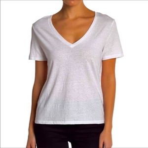 BP tee plain white vneck short sleeve lightweight